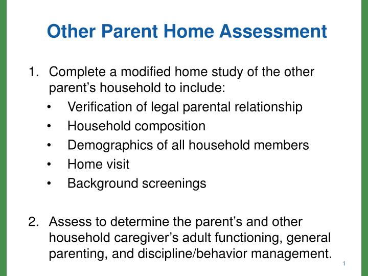 other parent home assessment n.