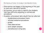 introduction to early intervention
