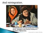 and reintegration