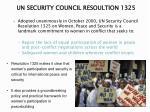 un security council resoultion 1325
