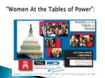 women at the tables of power