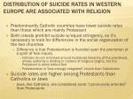 distribution of suicide rates in western europe are associated with religion