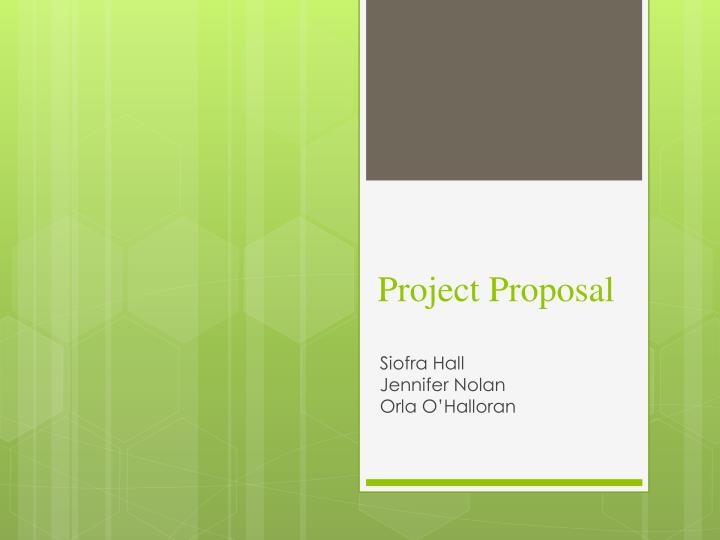 project proposal n.