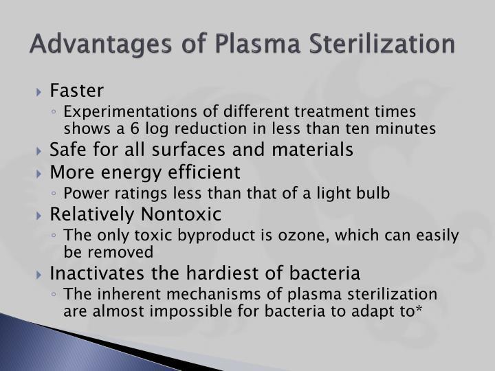 Advantages of Plasma Sterilization