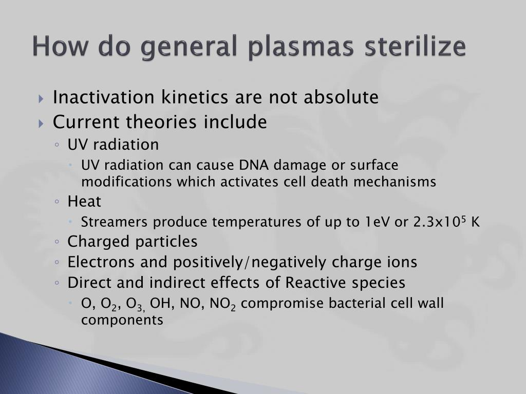Ppt The Application Of Plasma Sterilization For Suds