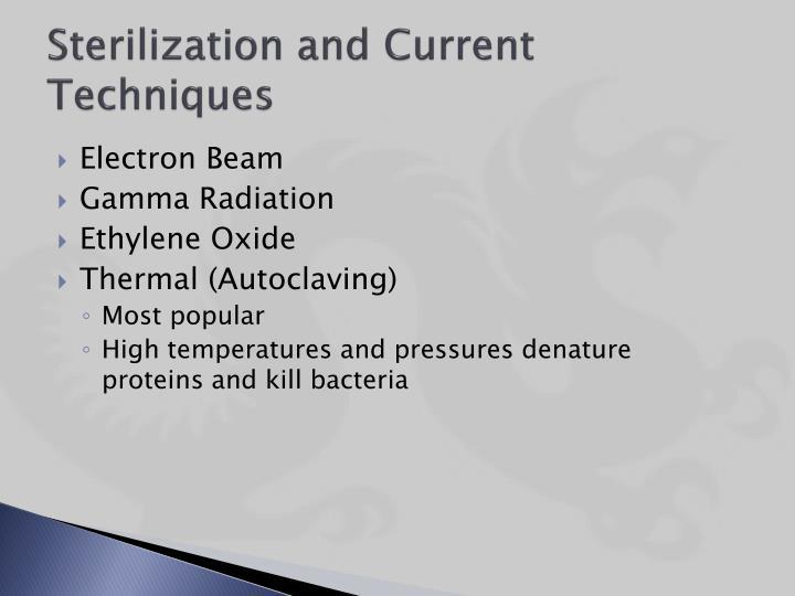 Sterilization and current techniques