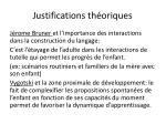 justifications th oriques