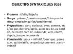 objectifs syntaxiques gs
