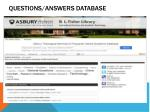 questions answers database