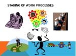 staging of work processes