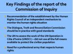 key findings of the report of the commission of inquiry1