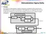 d modulation sigma delta