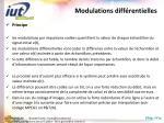 modulations diff rentielles