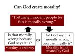can god create morality