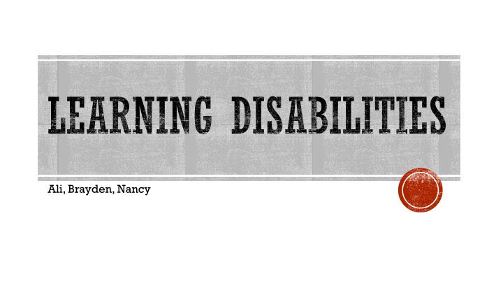 learning disabilities n.