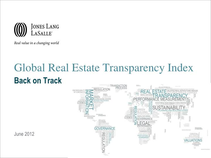 global real estate transparency index back on track n.
