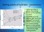 boiling points of hydrides conclusions