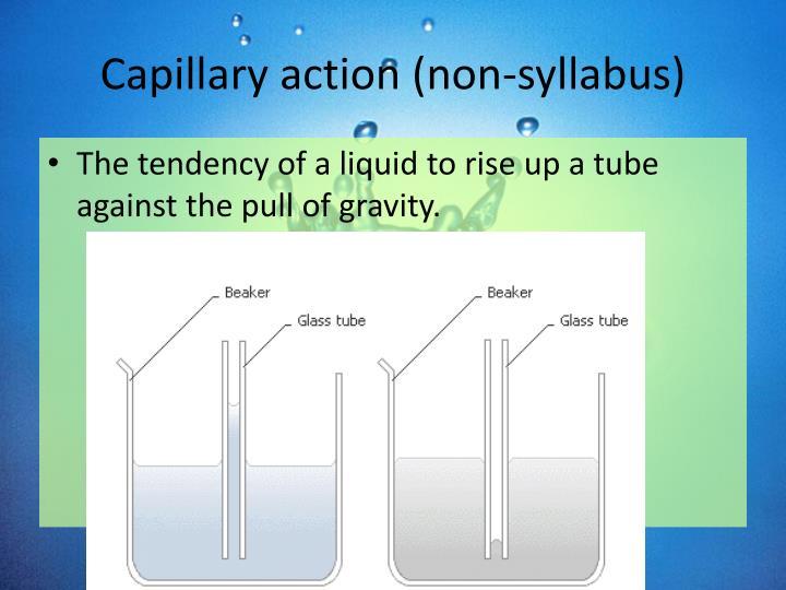 Capillary action (non-syllabus)