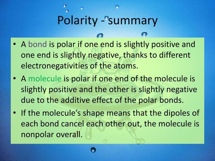 Polarity - summary