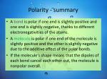 polarity summary