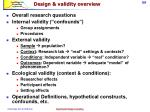 design validity overview