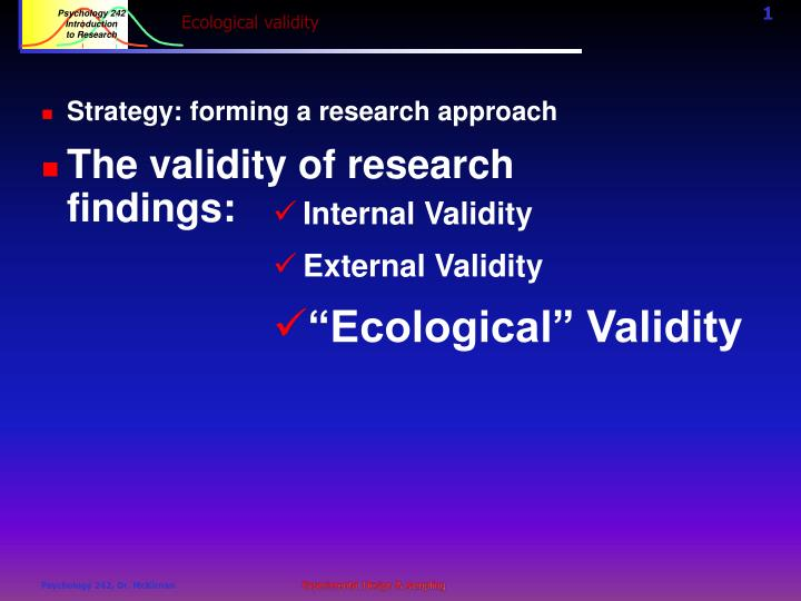 ecological validity n.