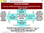 external validity summary