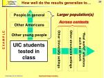 generalizability population and context