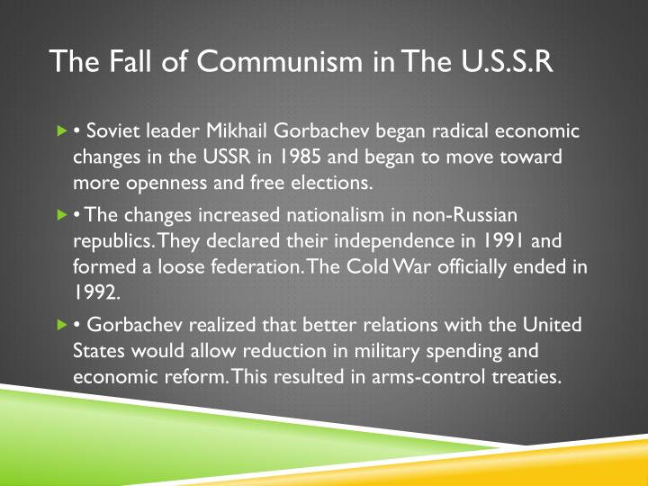 The Fall of Communism in The U.S.S.R