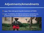 adjustments amendments