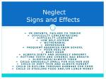 neglect signs and effects