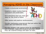 managing adhd in the classroom