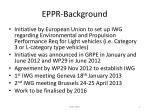 eppr background