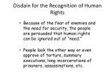 disdain for the recognition of human rights