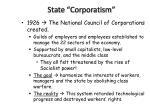 state corporatism