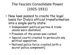 the fascists consolidate power 1925 1931