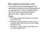 the lateran accords 1929