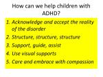 how can we help children with adhd
