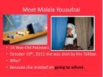 meet malala yousufzai