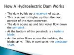 how a hydroelectric dam works