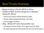 new threats overseas