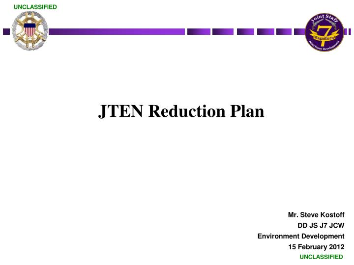 jten reduction plan n.