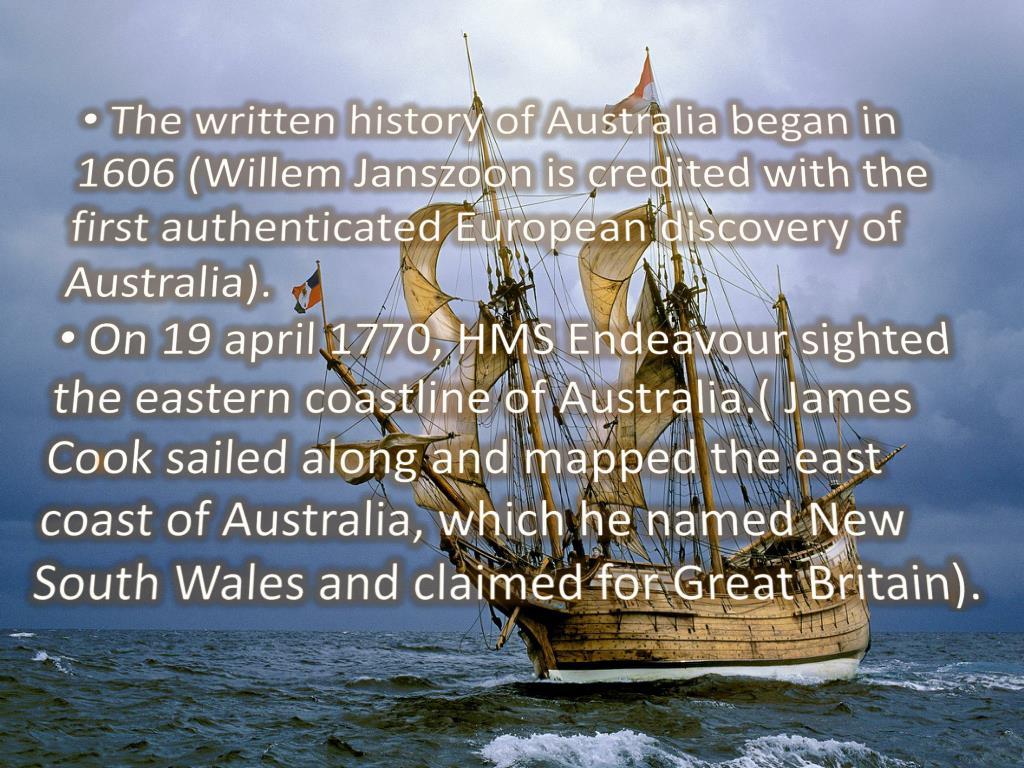 Who First Sailed Along The Coast Of Australia