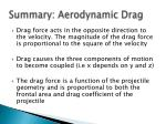 summary aerodynamic drag