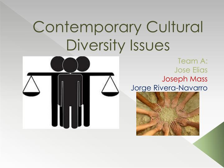 contemporary cultural diversity issues n.