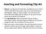 inserting and formatting clip art