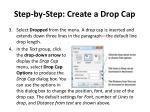step by step create a drop cap1