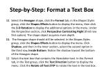 step by step format a text box2