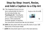 step by step insert resize and add a caption to a clip art3