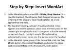 step by step insert wordart1